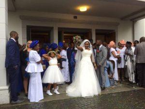 Afrikanische Hochzeit in unserer Kirche