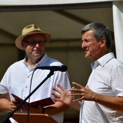 Volker Schmitt und Pfr. Arend Hoyer