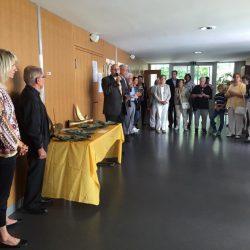 Pastoralassistenz Volker Schmitt eröffnet die Ausstellung