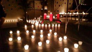 Kerzen an Roratefeier