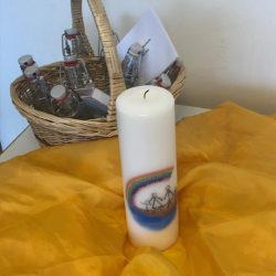 Familienarche Kerze mit Fläschchen