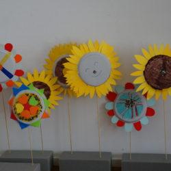Sonnige, bunte Blumen